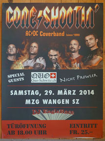 Plaka Cone Shootin AC DC Coverband 2014 Rockkonzert CH-8855 Wangen SZ