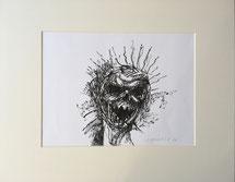 Totentanz | 2020 | 29 x 39 cm | Tusche auf Papier