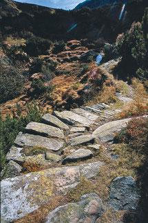 Chemin muletier au col du Grimsel (photo Heinz Dieter Finck)