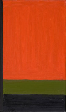 o. T.  (38) 1995 Ölfarbe 30 x 18 cm