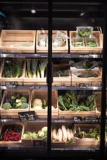 Das Gemüse wird schön präsentiert