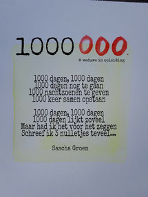 Gedicht 1000000 - Weduwe in Opleiding - Sascha Groen
