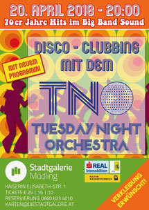 "TNO Tuesday Night Orchester ""70er Jahre Disco Clubbing"" Stadtgalerie Mödling"