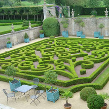 Chateau de Brecy , the parterre in the courtyard