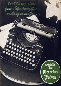 Advertising Mercedes Prima typewriter mod. 34
