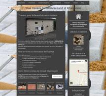 site Girault Maçonnerie cree en formation avec e-cime.fr spécialiste du site avec optimisation Référencement pour TPE