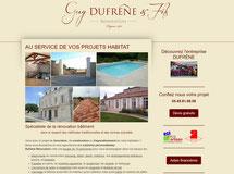 site dufrene renovation cree en formation avec e-cime.fr spécialiste du site avec optimisation Référencement pour TPE