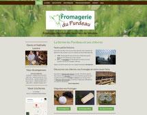 site fromagerie du Purdeau cree en formation avec e-cime.fr spécialiste du site avec optimisation Référencement pour TPE
