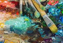 Hector Olivera en su atelier. Atelier Azur, Taller Azur