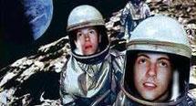 Jim und Rex auf dem Mond