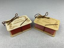 Schafmilchseifen mit Gravur-Holzplatten