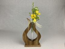 Blumenvase mit Glas