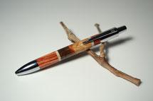 Klick-Kugelschreiber aus verschiedenen Holzarten mit Kunststein, Manhatten