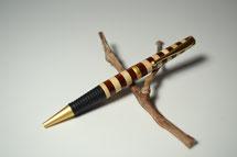 Drehkugelschreiber mit Gummi Griffstück aus Ahorn und Cocobolo