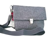Handtasche, Umhängetasche grau, graue Tasche, Schultertasche