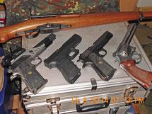 Dienstwaffen für den Schnupperkurs