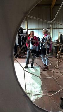 Ausstellung im Tuchwerk selbst: Foto Diana