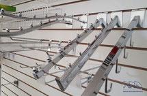 Ganchos blister, accesorios para panel ranurado, ganchos para ropa