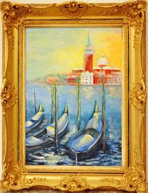 Venedig - Acryl auf Leinwand 60x46 - Rahmen von 1960