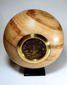 houten urn /design urn / kunst urn  / tree  of life