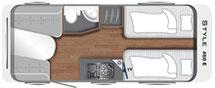 LMC Style 450 E Grundriss