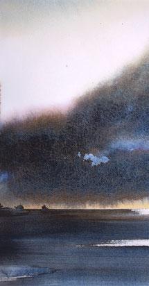 Notturno sul Golfo di Trieste cm 42,5 x22