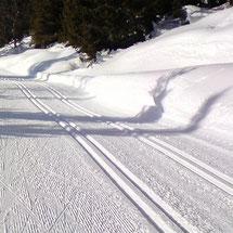 Activité ski de fond proposée à Giron en lien avec le gîte de Giron dans l'Ain