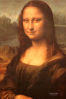 Bild: Mona Lisa im Louvre Paris