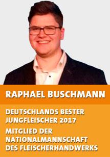 Raphael Buschmann ist Deutschlands bester Jungfleischer 2017 und Mitglied der Nationalmannschaft des Fleischerhandwerks