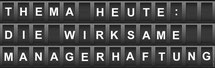 Risiko-Consulting: Haftungsschutz durch Risiko-Controlling