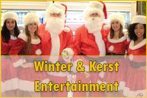 winter en kerst entertainment, kerstmannen huren