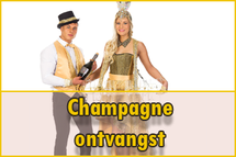 Ontvangst act, champagne ontvangst, feest idee