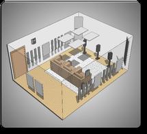 Комплект акустических материалов для комнат 20-35 м2