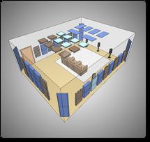 Комплект акустических материалов для комнат 60-70 м2