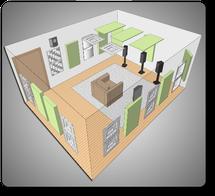 Комплект акустических материалов для комнат 20-30 м2