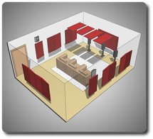 Комплект акустических материалов для комнат 30-40 м2