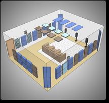 Комплект акустических материалов для комнат 50-60 м2