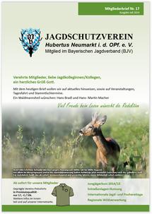 Jagdschutzverein Hubertus Neumarkt e. V. Mitgliederbrief Nr. 17