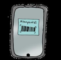 Grafik Smartphone App Mikroplastik Check
