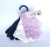 Fingerlinge Kinder, im 3er Pack, rosa/weiß/schwarz