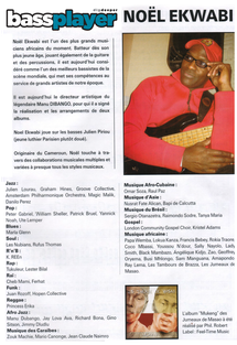 Les jumeaux de Masao article journal Bassplayer photo Sammy Nija Akwa