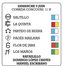 Toros de Saltillo, La Quinta, Partido de Resina, Pagès Mailhan, Flor de Jara, Los Maños pour Rafaelillo, Domingo Lopez Chaves et Alberto Lamelas
