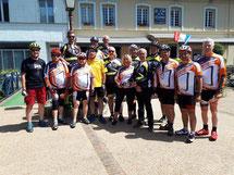 Erstes Zusammentreffen in Clères mit unseren französischen Radsportfreunden.