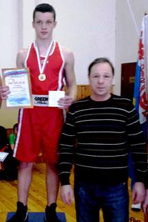 Максим Пакулин с тренером Александром Чуйко