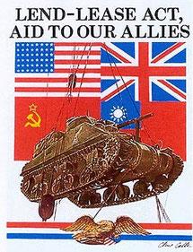 Ленд-лиз, Lend-lease, система передачи Соединёнными Штатами Америки взаймы или в аренду военной техники и др. материальных средств странам-союзницам в годы Второй мировой войны.