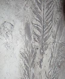 Stucco mit Federabdruck