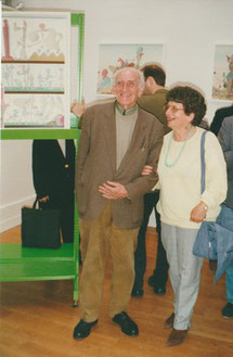 Maurice Rapin et Jeanine Rivais à la Galerie Jean-Claude Riedel (exposition Rapin 2000)