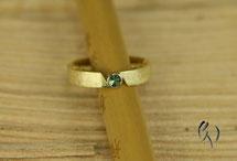 Ring Gold 585/- mit grünem Turmalin