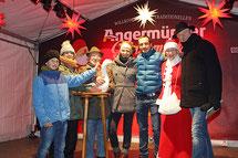Angermünder Gänsemarkt 2017. Moderator Angermünde, Bernd Winkler, Tourismusverein Angermünde, Otto Betker, Gänsepapa