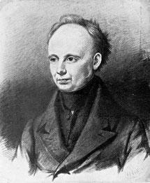 Christian Dietrich Grabbe, nach einer Zeichnung von Joseph Wilhelm Pero